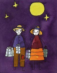PNG - 1.4Mo Tino et Marceline marchaient avec la lune... - 7 Lames la Mer #lareunion