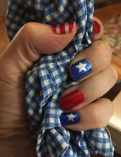 Patriotic Nails, Independance Day, You Lost Me, Healthy Nails, Nail Polish Strips, Acetone, Old Glory, Us Nails, Nail Wraps