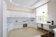 Apartament de 60 mp cu 2 camere în nuanțe de bej-maro - Edifica Bathtub, House Design, Interior Design, Bathroom, Modern, Kitchen, Table, Furniture, Home Decor