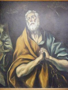 St. Peter by El Greco               045, for more please visit http://painting-in-oil.com/artworks-El-Greco-page-1-delta-ALL.html