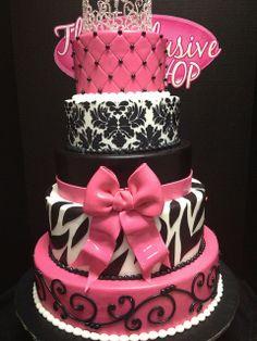 cute sweet 16 cake