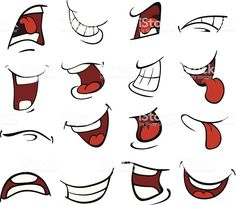 Set of mouths cartoon royaltyfree stock vector art You are in the right place about japanese Illustrations Here we offer you the most beautiful pictures about the Illustr. Cartoon Faces Expressions, Drawing Cartoon Faces, Cartoon Mouths, Cartoon Eyes, Cartoon Brain, Cartoon Turtle, Doodle Cartoon, Cartoon Cartoon, Graffiti Lettering