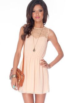 Kali Laced Dress in Nude