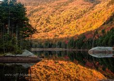 Peak fall foliage by Beaver Pond, north of Woodstock, N.H., in the White Mountains of New Hampshire (photo by Jeff Folger).