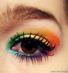 倫☜♥☞倫 Rainbow eyeshadow *.♡♥♡♥Love★it