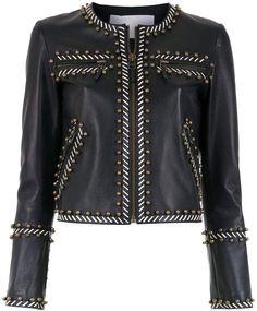 Nk leather apliqué jacket