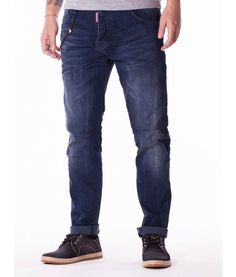 Dsquared Slim Fit Jeans DSQ Color: navy denim Slim fit Dsquared accessories Branded Dsquared buttons Fabric Cotton Made in Italy Sizing: Model is. Slim Fit Pants, Jeans Pants, Designer Clothing, Denim, Model, Cotton, Fashion, Navy Blue, Cowboys
