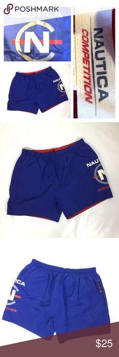 e46343e16c Vtg Mens Nautica Competition Swim Trunks Shorts XL Vintage 90s Mens Nautica  Competition Spellout Swim Trunks