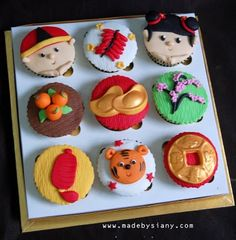 made by Siany: Chinese new year cupcake set 9