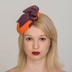 Buy designer UK made fascinators, fascinator hats and hatinators in colours to suit all outfits. Orange Fascinators, How To Make Fascinators, Wedding Fascinators, Pillbox Hat, Fascinator Hats, Pill Boxes, Felt Hat, Color Swatches, Mother Of The Bride
