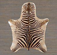 Argentine Zebra Hide | Ben Soleimani for RH | Restoration Hardware