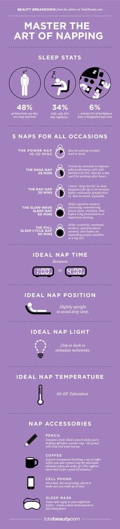 Consider supplementing your nightly rest with naps. | 18 Charts That Will Help…