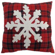 St.+Nicholas+Square+Bucle+Snowflake+Throw+Pillow