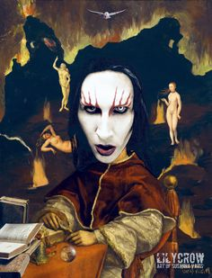 Afternoon In Hell - Marilyn Manson by Susanna Varis mixed media 2011
