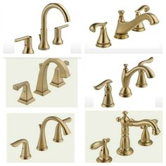 Affordable Bathroom Faucets Pinterest Brass Bathroom Faucets - Delta gold bathroom faucets