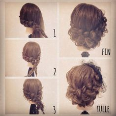 Fancy Hairstyles, Braided Hairstyles, Wedding Hairstyles, Braided Updo, Hair Arrange, Hair Dos, Hair Hacks, Hair Inspiration, Curly Hair Styles