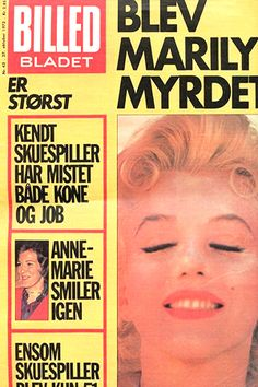 1972 October issue: Billed Bladet (Danish) magazine cover of Marilyn Monroe .... #marilynmonroe #normajeane #vintagemagazine #pinup #iconic #raremagazine #magazinecover #hollywoodactress #1970s