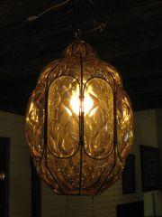 Handblown Pale Amber Murano Glass Pendant Lamp at 1stdibs