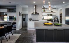 Indoor and outdoor concrete kitchen benchtops, concrete vanity tops, concrete table tops and much more. Concrete Kitchen, Concrete Countertops, Kitchen Benchtops, Functional Kitchen, Concrete Design, Display Homes, Storage, Table, Island