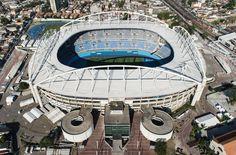 Vista aérea do Estádio Olímpico Engenhão, que sediará o atletismo e eventos de futebol durante a Rio 2016