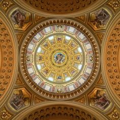 Hungary - Budapest - St Stephens Basilica ceiling | Flickr