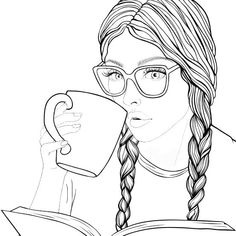 People Coloring Pages, Cute Coloring Pages, Animal Coloring Pages, Coloring Pages To Print, Coloring Books, Bff Drawings, Drawings Of Friends, Abstract Pencil Drawings, Free Adult Coloring