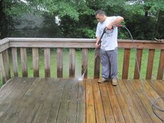 Tips for Cleaning and Restoring a Wooden Deck Deck cleaning and restoration is a sure fire way to keep your wooden deck in tip top shape. Not only during the cold winter months, but during all the seasons your deck can take quite a beating. From the snow, to the rain and harsh sun, the wood may often become damaged.  Read more: http://www.pressurewasherguides.com/tips-for-cleaning-and-restoring-wooden-deck/