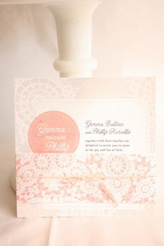 Wedding invitation by Cake Ink. (Janelle), via Flickr
