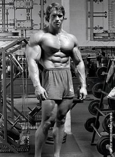 Bodybuilding Pictures: Arnold Schwarzenegger at Work