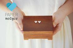 """Personalizowane pudełko na obrączki wzór """"RUSTIC ring box II"""""""