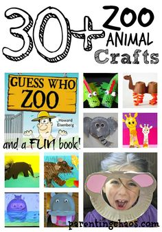 Guess Who Zoo and 30+ Zoo Animal Crafts