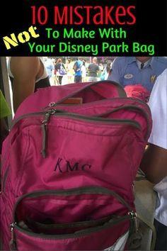 Tips for making sure your park bag is prepared for Walt Disney World