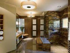 Bathroom, Modern Bathroom Design And Layout Green Bathroom Vanities Spa Like Asian Bath With Sleek Design: Eye-Catching Japanese Bathroom Design Small Space Modern Bathroom Design, Bathroom Interior Design, Bathroom Styling, Bathroom Designs, Spa Interior, Eldorado Stone, Design Sauna, Spa Like Bathroom, Bathroom Ideas