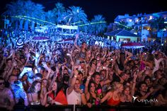 Partying all together at Ushuaia Ibiza Beach Hotel.