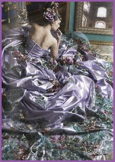 stella de libero ~ So lavish ~ Need more sumptuous gowns ~ Wedding Dress Patterns, Designer Wedding Dresses, Bridal Dresses, Wedding Gowns, Beauty And Fashion, Diy Fashion, Fairytale Dress, Mode Chic, Estilo Fashion