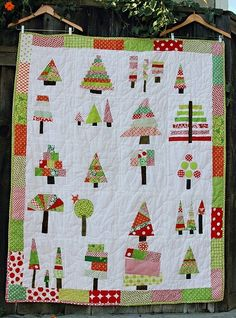 Christmas tree quilt - So cool!