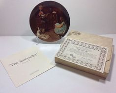 Norman Rockwell The Storyteller Rockwell Heritage Collection Plate 4835AE Bradex