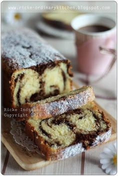 Just My Ordinary Kitchen...: HELLO! IT'S CLASSIC MARBLE BUTTERCAKE