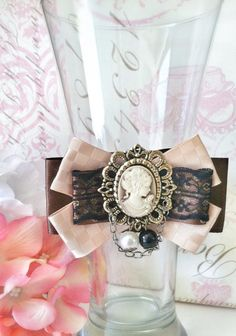 Vintage Cameo Bow by LePetitRoyal on Etsy