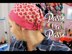 Touca Cirúrgica / Cozinha (Unissex) | Passo a Passo - YouTube Scrubs Pattern, Scrub Hat Patterns, Hat Patterns To Sew, Sewing Patterns, Sewing Hacks, Sewing Crafts, Sewing Projects, Cow Skull Decor, Hats For Cancer Patients