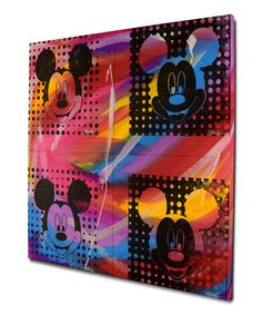 Look what I found on #zulily! Red Gail Rogers Mickey Mouse Silkscreen Gallery-Wrapped Canvas #zulilyfinds