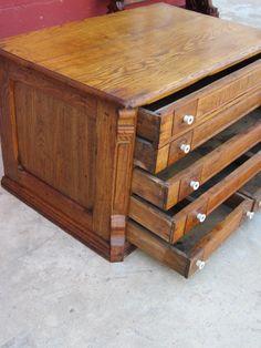 American Antique Spool Cabinet