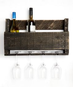 Ebony Little Elm Wine Rack By DelHutson Designs #zulilyfinds