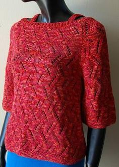 Womens Sweater Knitting Patterns Free Knitting Pattern For Woman& Eyelet Sweater Pattern With. Free Knitting Patterns For Women, Sweater Knitting Patterns, Knitting Yarn, Knit Patterns, Knitting Ideas, Knitting Stitches, Knitting Projects, Crochet Projects, Sewing Projects