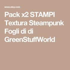 Pack x2 STAMPI Textura Steampunk  Fogli di di GreenStuffWorld