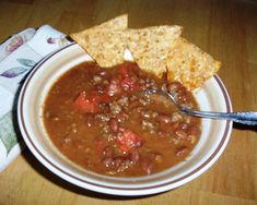 Gluten-Free Chili with Tomatoes from http://elegantlyglutenfree.com