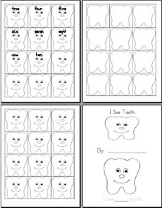 teeth numbers to preschool | Publishers :: Kristen Walsky :: Teeth Theme: Purposeful activities for ...