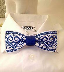 MOTÝLIK modrý káro / ODMARUSKY - SAShE.sk - Handmade Doplnky Diy Bow, Event Decor, Folk, Traditional, Classic, Ties, Hardanger, Men's Bow Ties, Dots
