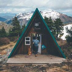 A-frame cabin in Ketchikan, Alaska.