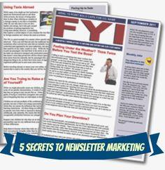 5 Secrets to Successful Newsletter Marketing #newsletterguru #marketing http://www.thenewsletterguru.com/5-secrets-to-successful-newsletter-marketing/